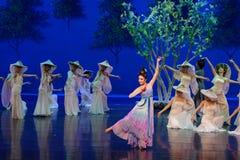 Prinsessa`-Ning ` - den första handlingen: `en för prinsessa för ` för drama för mullbärsträdträdgård-epos dans den siden-, arkivfoto