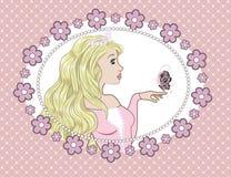 Prinsessa och butterflyÑŠ Arkivbilder