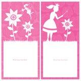 Prinsessa- och femalldesign Arkivbild