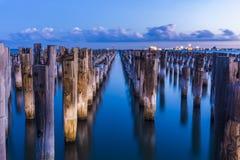 Prinsessa Pier på solnedgången Arkivfoton