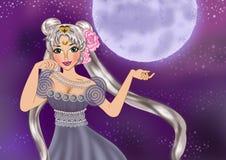 Prinsessa Serenity vektor illustrationer