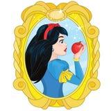 Prinsessa Snow White och den förgiftade Apple stock illustrationer