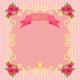 Prinsessabakgrund Arkivbild