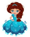 Prinsessaflicka royaltyfri illustrationer