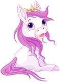 Prinsessahästar vektor illustrationer