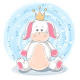 Prinsessaillustration - djura tecken för tecknad film vektor illustrationer
