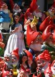 Prinsessan och 7na ställa i skuggan i Schweiz Arkivbilder