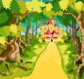 Prinsessasagaslott royaltyfri illustrationer