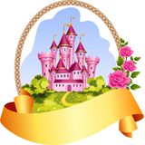 Prinsessaslottram royaltyfri illustrationer