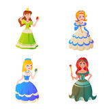 Prinsessateckenvectorillustration Arkivfoton