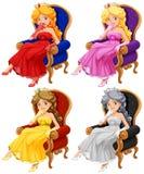 prinsessen stock illustratie