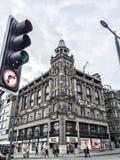 Prinsgatan i den gamla staden för Edinburg, UK Royaltyfria Bilder