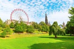 Prinsgataträdgårdar i Edinburg, Skottland Royaltyfri Foto