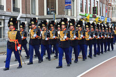 Prinsjesday 2011 - Parata dei granatieri Fotografia Stock