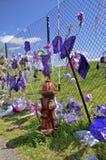 Prinsminnesmärkear på Paisley parkerar staketet Fotografering för Bildbyråer