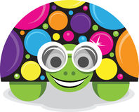 Print. A colorful vector illustration of a turtle wearing funky glasses royalty free illustration