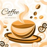Coffee time. Magic moment. royalty free illustration