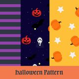 Triple halloween pattern collection. Isolated design special halloween day format suport file eps 10. thankyou for downloading vector illustration
