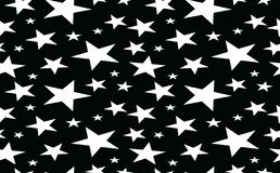 Abstract vector background black and white star. Design royalty free illustration