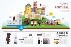 Travel Portugal set objects. royalty free illustration