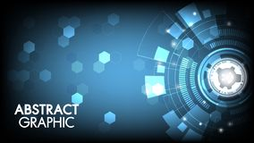 Vector abstract technology innovation circuit board and communication concept with hexagons for technology background. PrintVector abstract technology innovation vector illustration