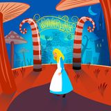 Alice in Wonderland stock illustration