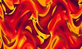 Abstract art painting 01. Beautiful Digital abstract art painting. It`s a combination of fire colors royalty free illustration