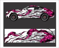 Car And Vehicle abstract racing graphic kit background for wrap and vinyl sticker. Truck,car And Vehicle abstract racing graphic kit background for wrap and royalty free illustration