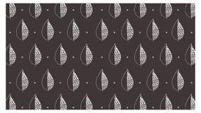 Leaves pattern hypster style handdrawn illustration vector for background purpose or printable images vector illustration