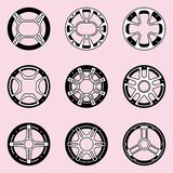 Speaker mesh grille protection. Vector illustration royalty free stock photo