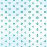 Green Star of david seamless pattern
