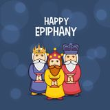 Happy Epiphany. Vector illustration of a Background for Epiphany Epiphany is a Christian festival with Italian Lettering Quote Buona Befana stock illustration