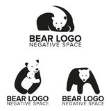 Bear Logo in Negative Space for your business or your company vector illustration