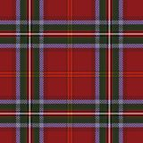 Tartan red green textile pattern royalty free illustration