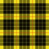 Tartan yellow black textile pattern royalty free illustration