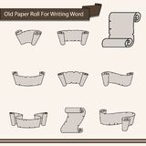 Old Paper Roll For Writing Word Icon - Vector. Old Paper Roll For Writing Word Icon for decor artwork about word or headline - vector vector illustration