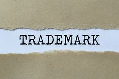 Trademark sign. With ripped paper royalty free stock photo