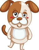 Cute dog vector illustration