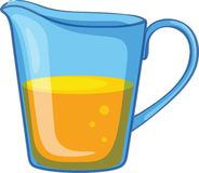Jug of orange juice stock illustration