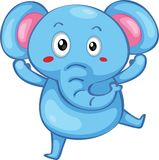 Cute elephant stock illustration
