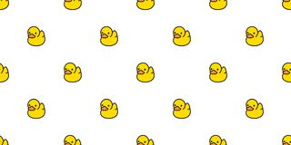 Duck seamless pattern vector rubber ducky isolated cartoon illustration bird bath shower repeat wallpaper tile background gift wra. P cute vector illustration