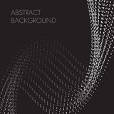 Abstract background black white dotted spiral royalty free illustration