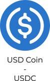 USD Coin USDC logo illustration stock illustration
