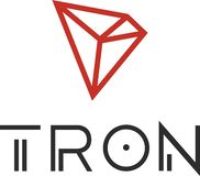 Tron TRX cryptocurrency icon royalty free illustration