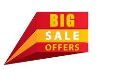 Big sale offer in 3D stock illustration