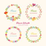 Beautiful Hand Drawn Flower Frame stock images