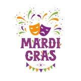 Mardi gras carnival party design royalty free illustration