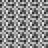 Vector Seamless pattern with gray pixels royalty free illustration
