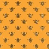 Seamless pattern with bees vector illustration