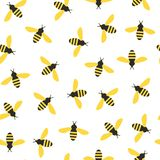 Seamless pattern with bees royalty free illustration